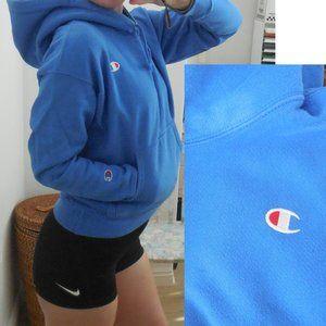 Champion Reverse Weave Hoodie Blue M